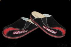 SCA-Pantoffel-schwarz-rot