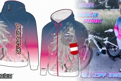 Full-Zipp-hooded-sweatshirt-Lady-INKA-PINK-TOURQUISE