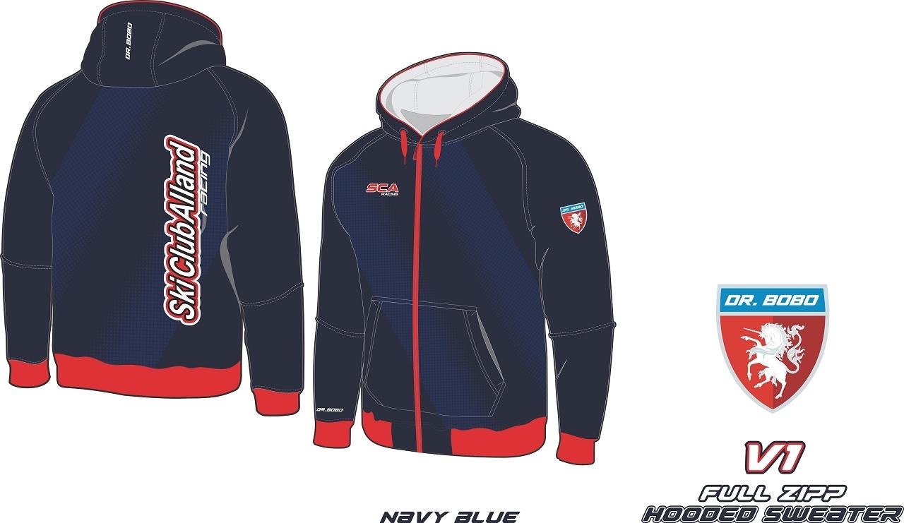 Full Zipp hooded sweatshirt SCA Dunkel Blau V1-1