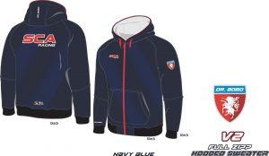 Full Zipp hooded sweatshirt SCA Dunkel Blau V2-1
