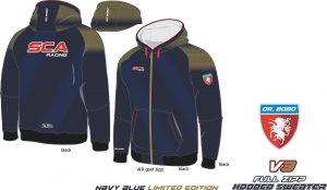 Full Zipp hooded sweatshirt SCA Dunkel Blau V3 limited edition