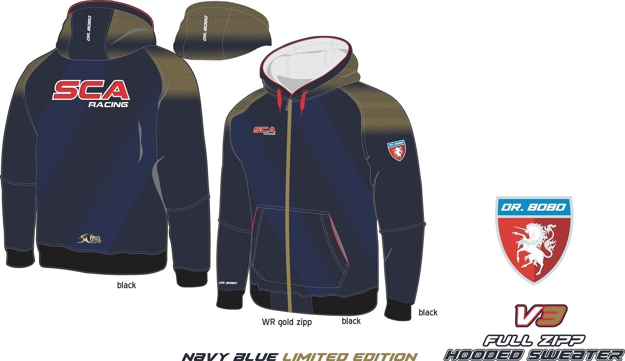 Full Zipp hooded sweatshirt SCA Dunkel Blau V3 limited edition
