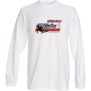 langarm racecamp Shirt weiss